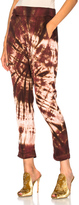 Enza Costa Pleated Easy Pant in Brown,Ombre & Tie Dye,Red.