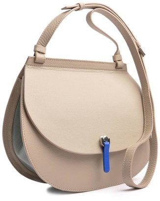 Ostwald Finest Couture Bags Saddle Shoulderbag Large In In Royal Blue Salvia Green & Grey