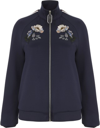 Markus Lupfer Maddy Flower Bloom Track Jacket - XS / Blue - Blue/Red/White