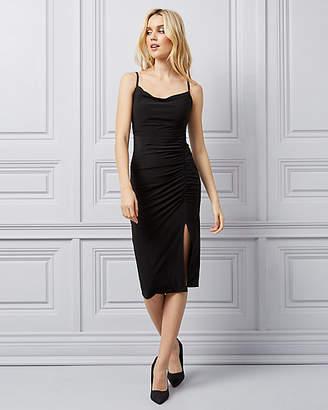 Le Château Knit Cowl Neck Cocktail Dress