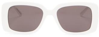 Balenciaga Square Acetate Sunglasses - White