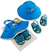 Baby Aspen Baby Boy Tropical Hat and Flip-Flop Gift Set