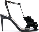 Lanvin floral applique T-bar sandals - women - Calf Leather/Leather - 36