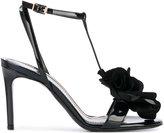 Lanvin floral applique T-bar sandals