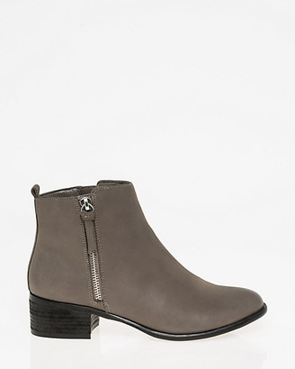 Le Château Leather Almond Toe Ankle Boot