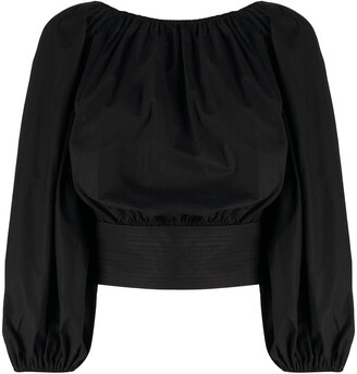 Patou Boat Neck Cropped Top