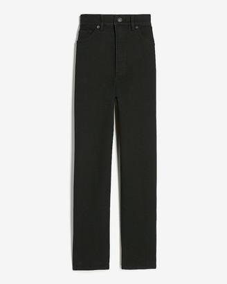 Express Super High Waisted Black Mom Jeans