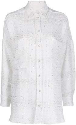 IRO Oversized-Fit Tweed Shirt