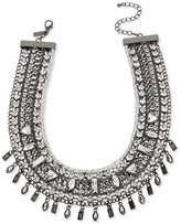 INC International Concepts Hematite-Tone Woven Stone Wide Collar Necklace, Only at Macy's