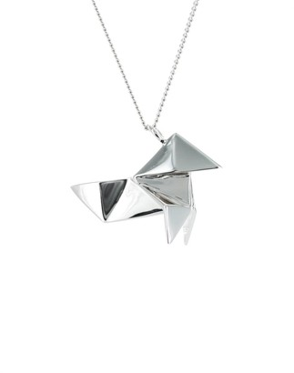 Origami Jewellery Cuckoo Necklace Sterling Silver