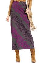 ECI Scroll-Print Maxi Skirt