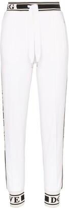 Dolce & Gabbana Logo detail cotton track pants