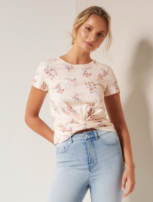 Forever New Wanda Cross Over Front Top - Apricot Blossom - l