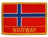 "FindingKing Norway Flag Patch 2 1/2"" x 3 1/2"""