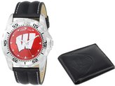 """Game Time Men's COL-WWS-WIS """"Watch & Wallet"""" Watch - Wisconsin"""