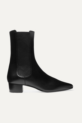The Row British Leather Chelsea Boots - Black