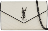 Saint Laurent Petite Monogram sunset medium leather clutch