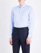 BOSS Regular-fit double-cuff cotton shirt