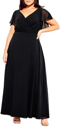 City Chic Sweet Wishes Maxi Dress (Plus Size)