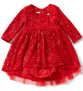 Bonnie Jean Bonnie Baby Baby Girls Newborn-24 Months Embellished Lace Dress