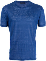 Etro crew-neck T-shirt - men - Linen/Flax - S