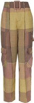 Rosie Assoulin patchwork check cargo trousers