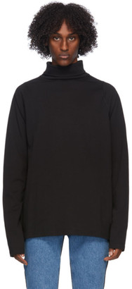 Martine Rose Black Expect Perfection Turtleneck