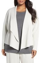 Eileen Fisher Plus Size Women's Silk & Organic Cotton Sweater Jacket