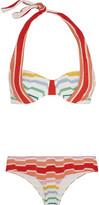 Missoni Striped crochet-knit halterneck bikini