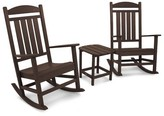 Polywoodâ® Presidential Rocking Chair 3 Piece Seating Group POLYWOODA Frame Color: Mahogany