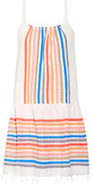 Lemlem Candance Striped Cotton-blend Gauze Mini Dress - Orange