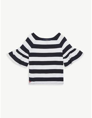 Ralph Lauren Striped frill sleeve top 2-16 years
