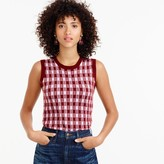 J.Crew Italian featherweight cashmere shell in gingham