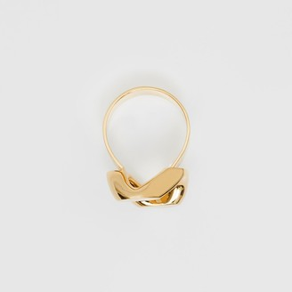 Burberry Gold-plated Chain-link Ring