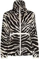 Moncler zebra print hooded jacket