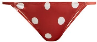 Solid & Striped The Morgan Polka-dot Bikini Briefs - Womens - Red Multi