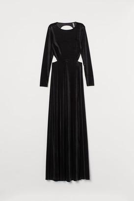 H&M Long velour dress