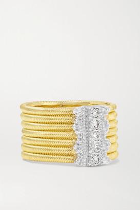 Buccellati Hawaii 18-karat Yellow And White Gold Diamond Ring - 52