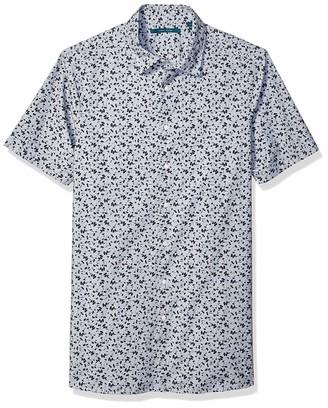 Perry Ellis Men's Big Abstract Floral Print Shirt