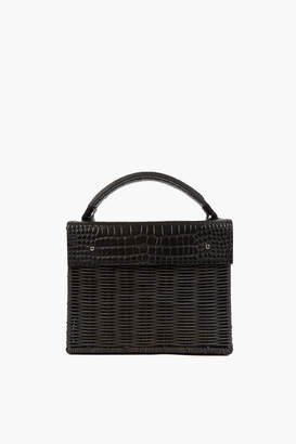 Wicker Wings Black Kuai Croco Bag