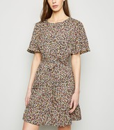 New Look Floral Tie Waist Mini Dress