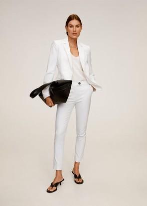 MANGO Straight cotton pants white - 2 - Women