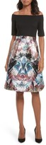 Ted Baker Women's Keris Mirrored Minerals Tulip Fit & Flare Dress