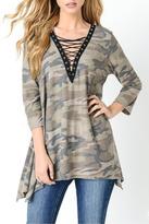 Jodifl Camouflage Lace Up Tunic