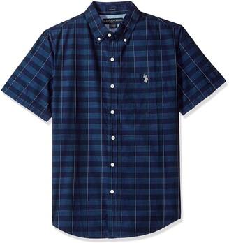 U.S. Polo Assn. Men's Short Sleeve Slim Fit Striped Shirt