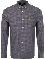 Lyle & Scott Long Sleeved Tattersal Shirt Navy