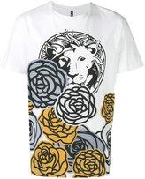 Versus lion floral print T-shirt - men - Cotton - XL