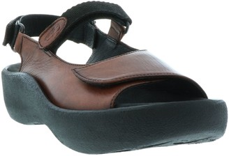 Wolky Leather Sandals with Removable Footbed - Jewel