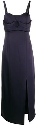 Jil Sander sweetheart midi dress