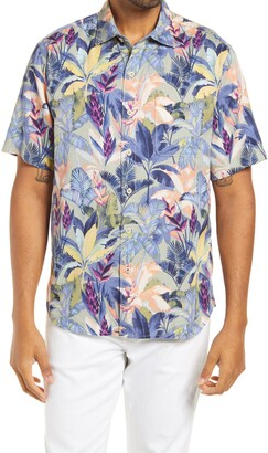 Tommy Bahama Fuego Palms Tropical Short Sleeve Button-Up Shirt